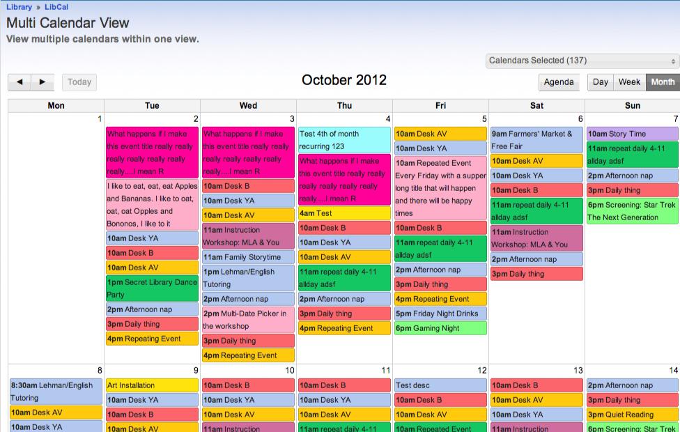 Multi Calendar View