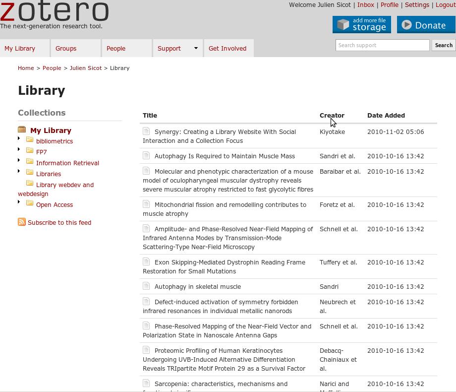 Zotero library