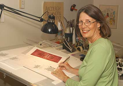 Saint John's Bible calligrapher Diane Von Arx