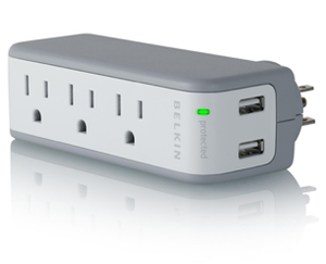 Belkin mini surge protector with dual USB charger
