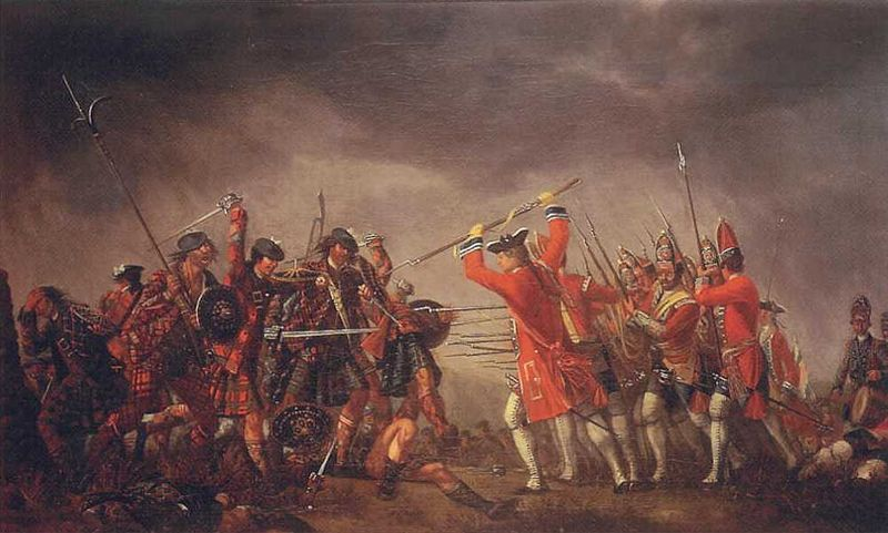 An incident in the rebellion of 1745, by David Morier