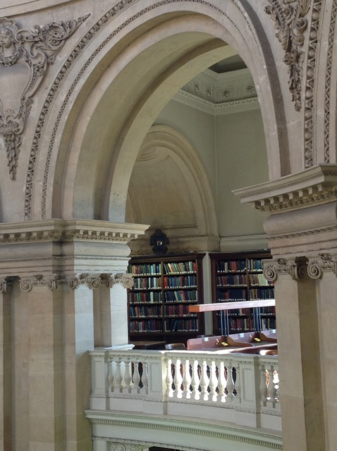 Photo of a section of the Upper Camera gallery, Radcliffe Camera, Bodleian Libraries, Oxford