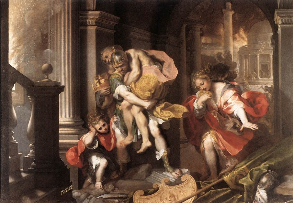 Aeneas' Flight from Troy by Federico Barocci