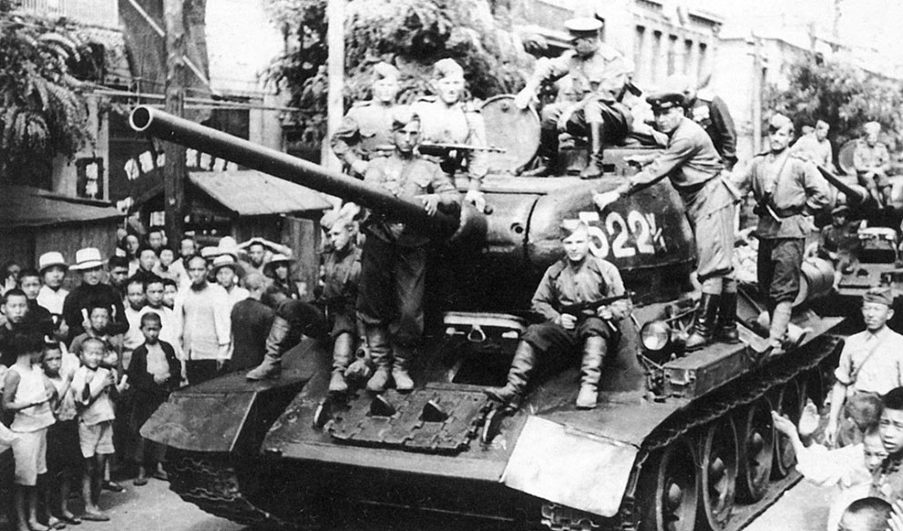 Soviets Invade Manchuria