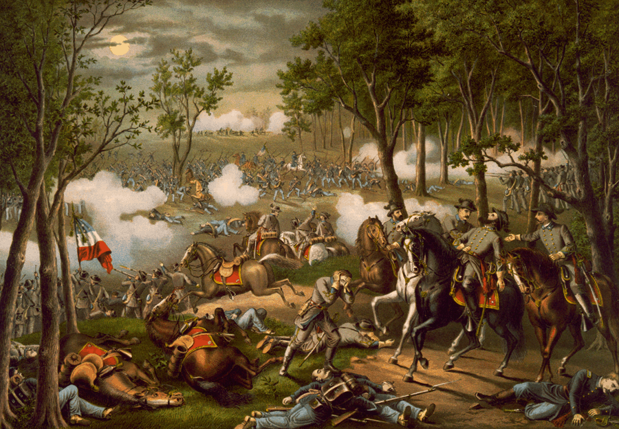 Battle of Chancellorsville by Kurz and Allison