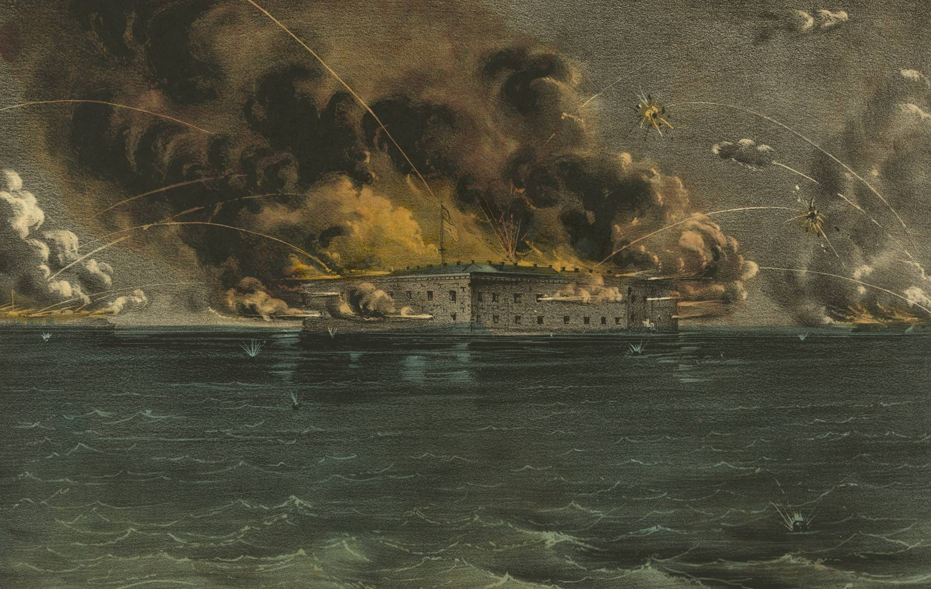 Battle of Fort Sumter by Currier and Ives