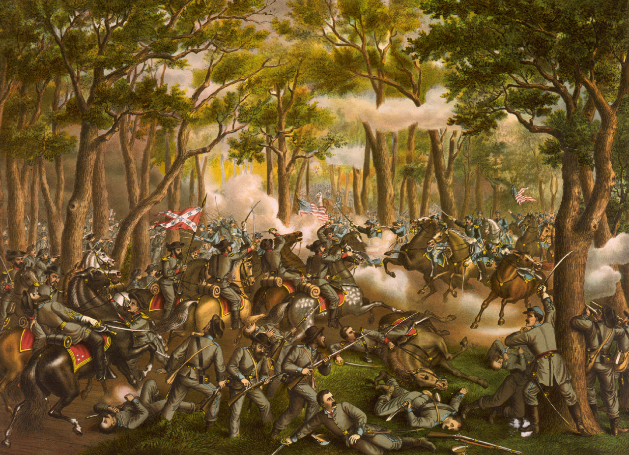 Battle of the Wilderness by Kurz and Allison
