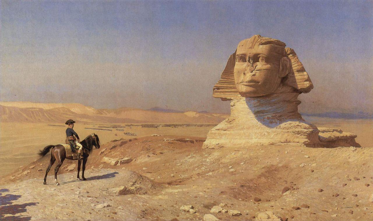 Bonaparte Before the Sphinx by Jean-Leon Gerome