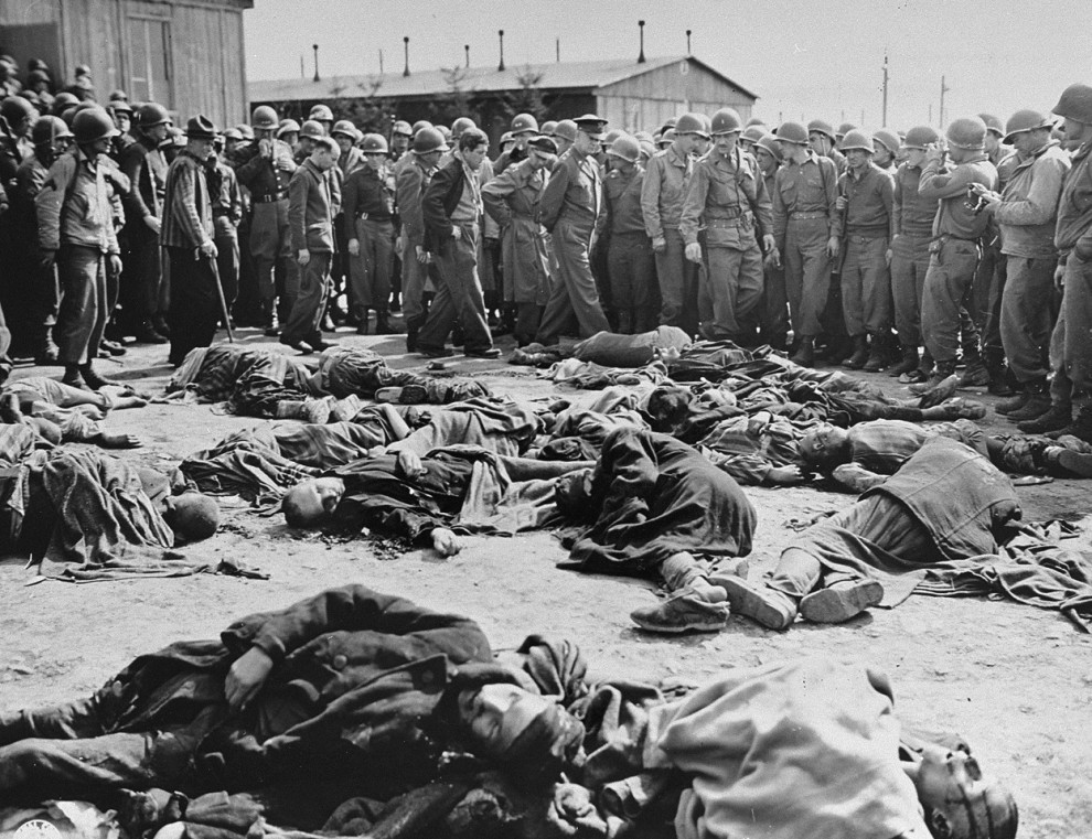 General Eisenhower at Liberated Ohrdruf Concentration Camp
