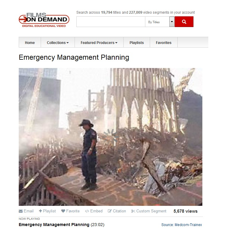 Movie: Emergency Management Planning