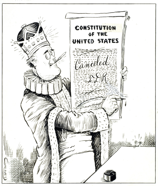 Political Cartoon Critical of FDR (1930s)