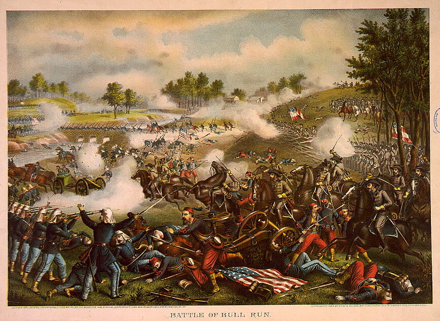 First Battle of Bull Run by Kurz & Allison