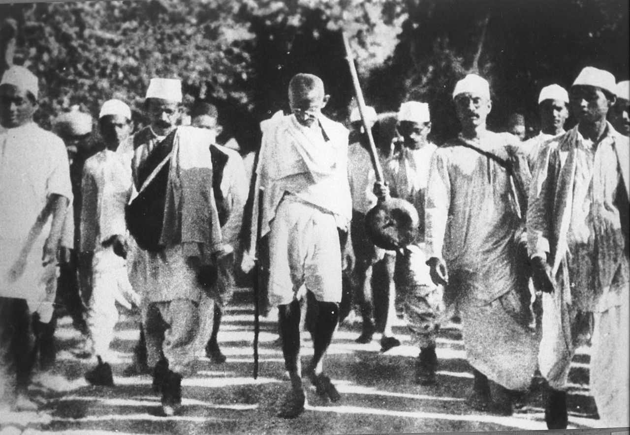 Gandhi on the Salt March 1930
