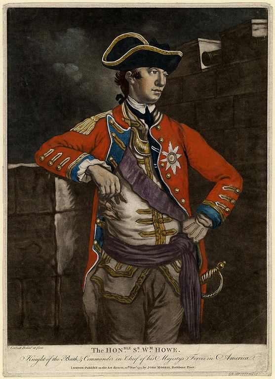 General William Howe 1777 Color Mezzotint