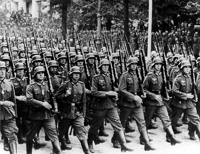 German Troops reoccupy the Rhineland 1936