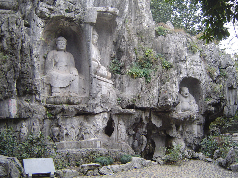 Photo of Grotto at Lingyin Temple in China