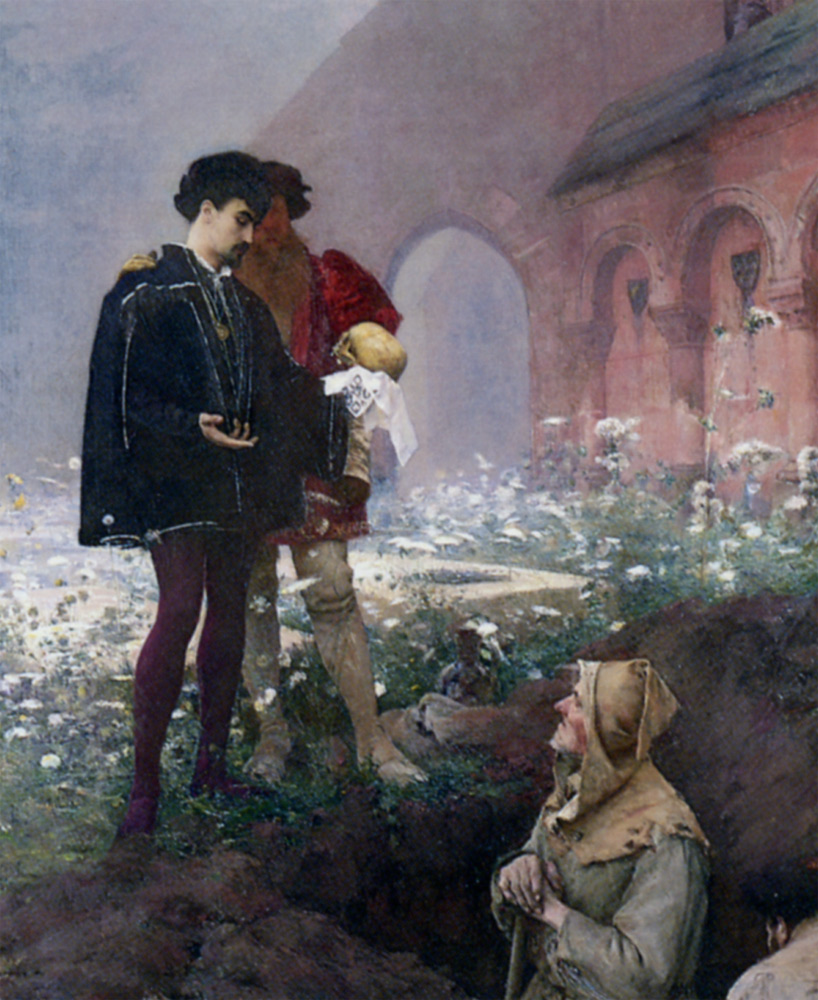Hamlet and the Gravediggers by Pascal Adolphe Jean Dagnan-Bouveret