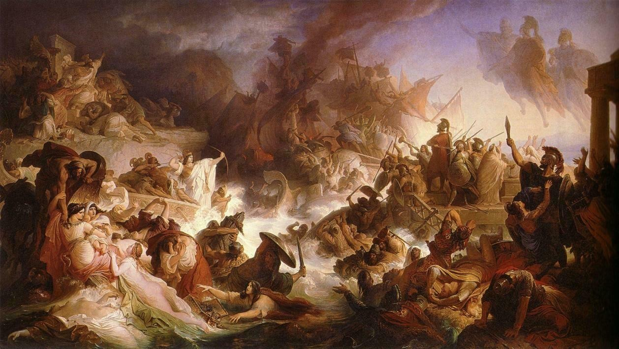 The Battle of Salamis by Wilhelm von Kaulbach