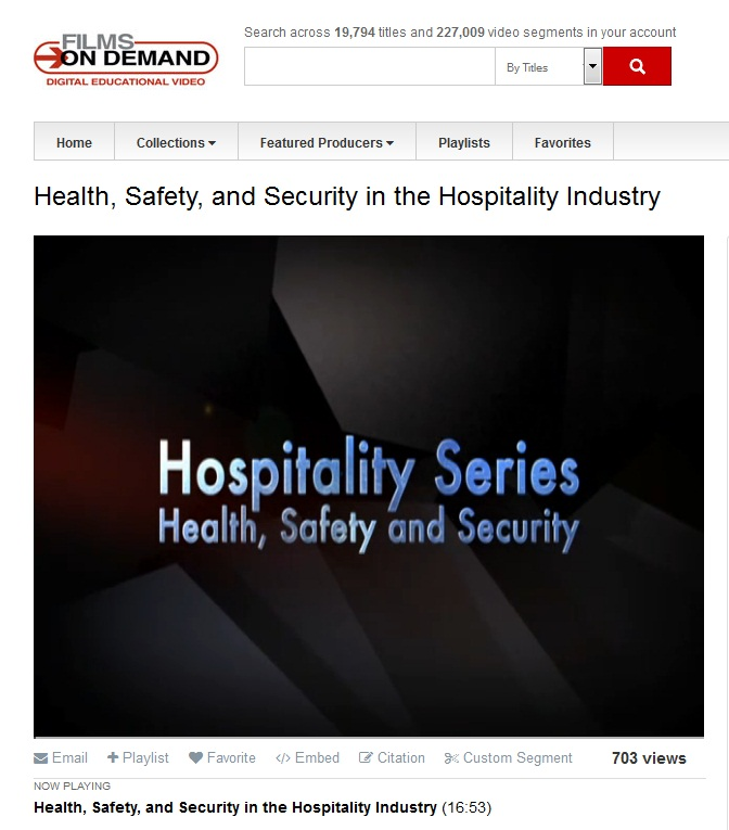 Movie: Health Safety and Security