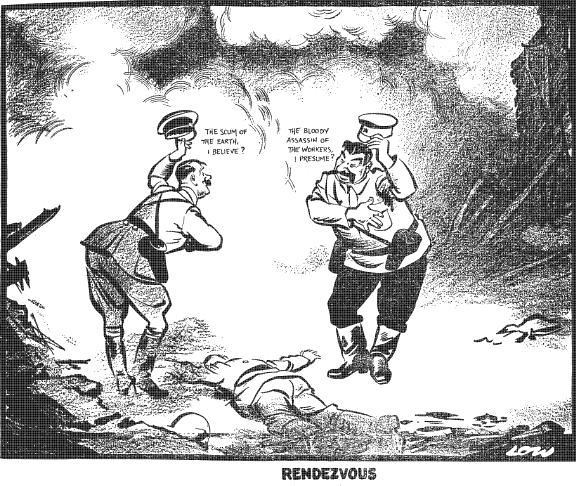 Hitler-Stalin Pact Cartoon 1939