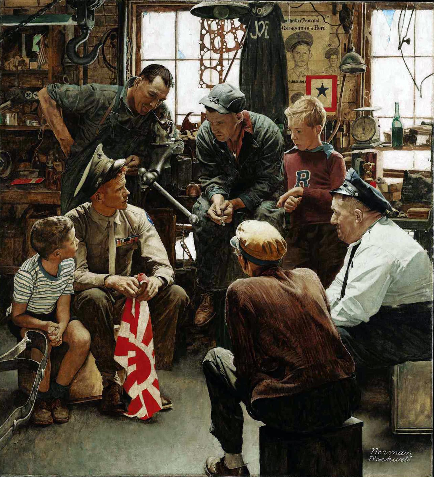 Marine Homecoming by Norman Rockwell