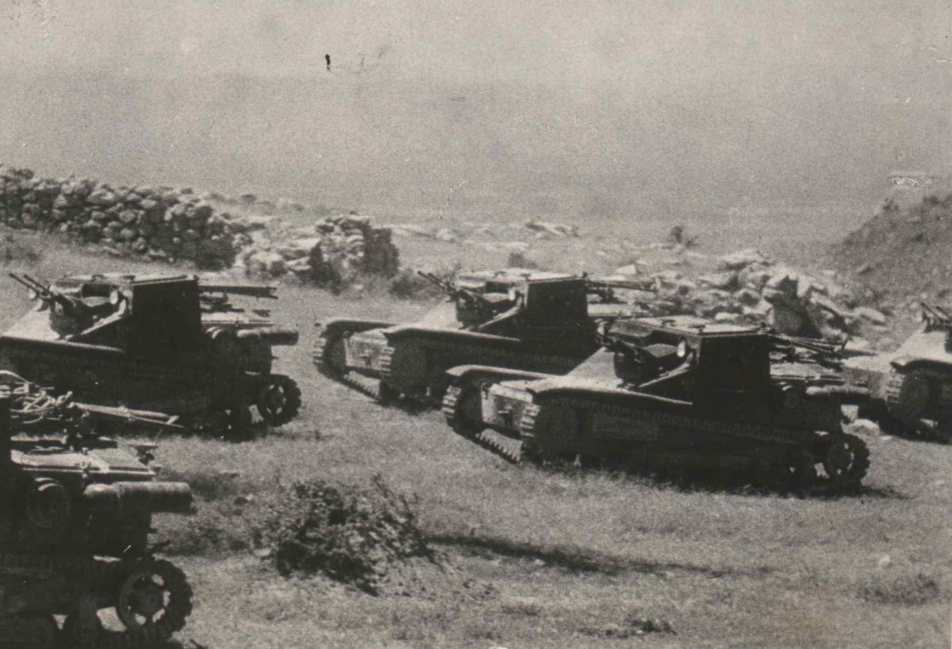 Italian Tanks in Ethiopia 1935
