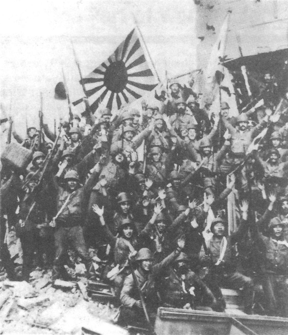 Japanese Soldiers Occupy Shanghai 1937
