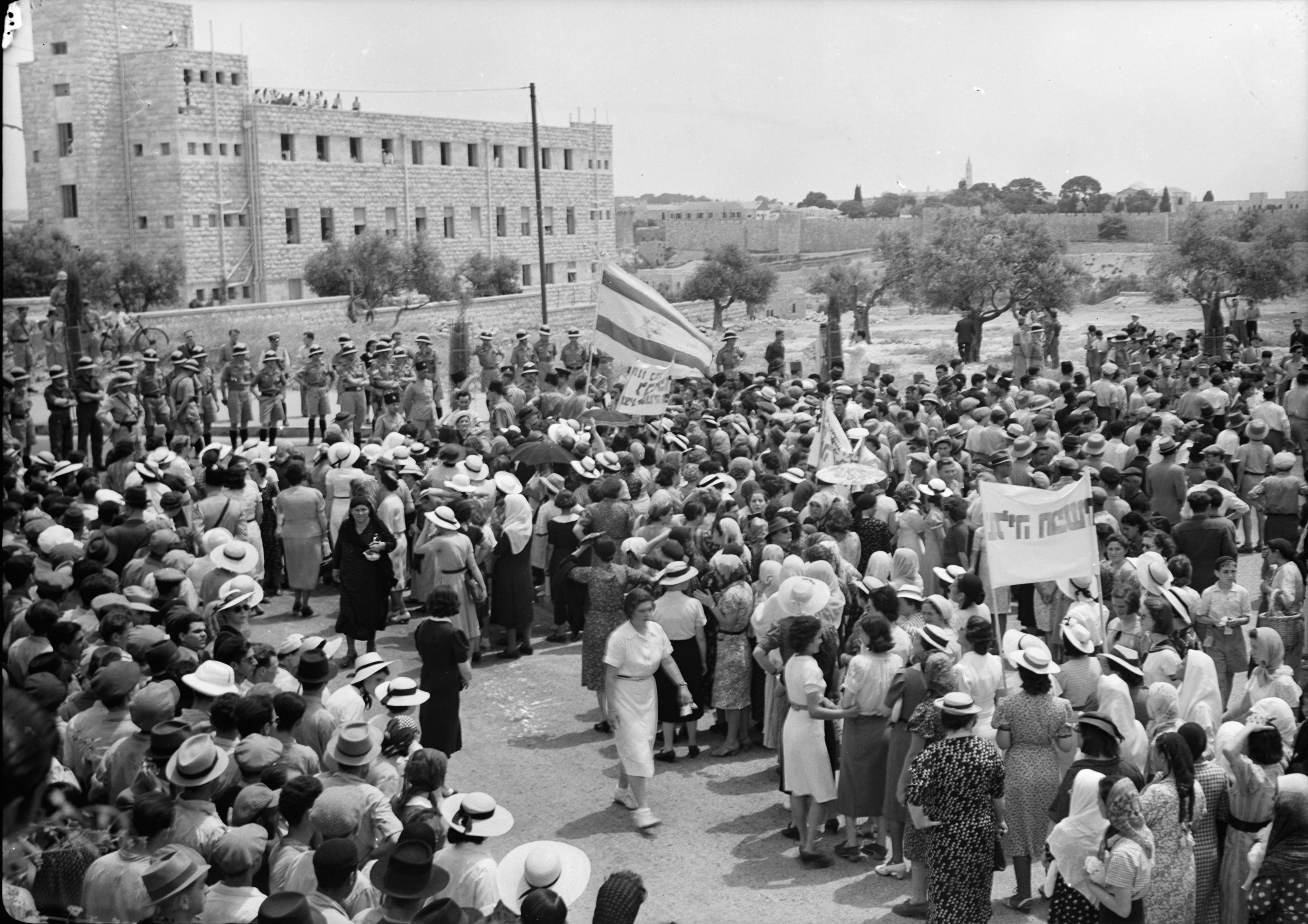 Jewish demonstration against White Paper in Jerusalem 1939