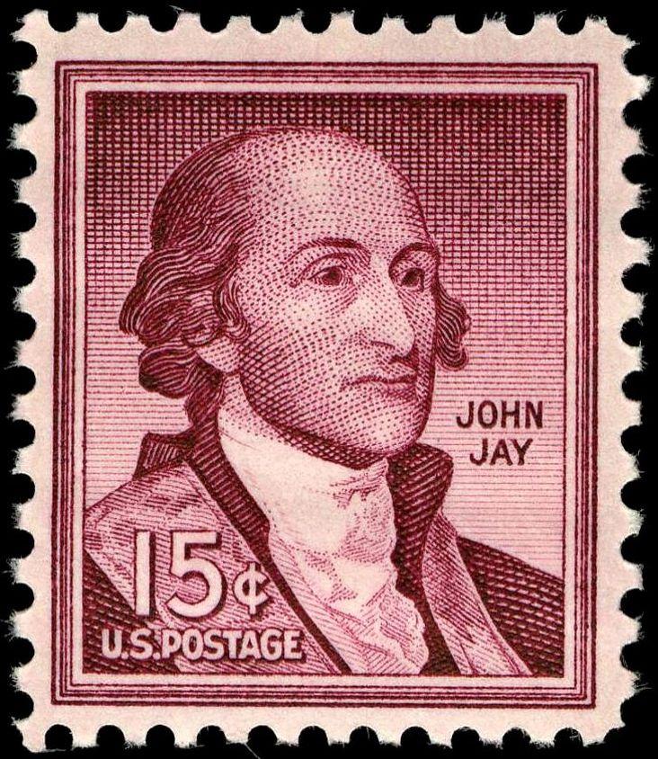 John Jay on a 1958 US Postal Stamp