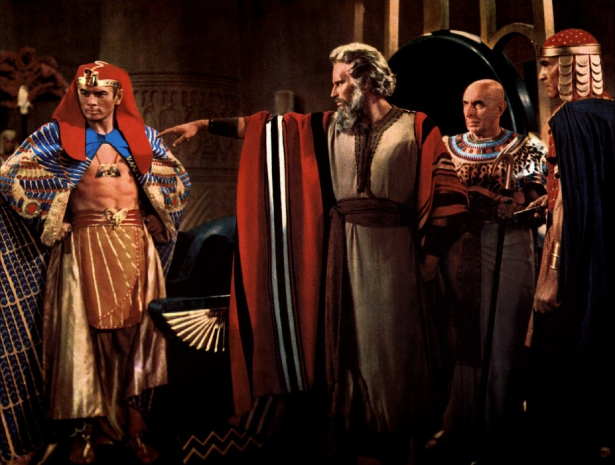 Charleton Heston and Yul Brenner as Moses and Ramses in the Ten Commandments (1956)