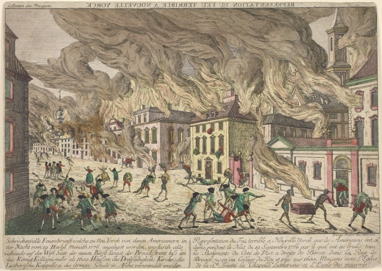 The Great FIre in New York City 1776