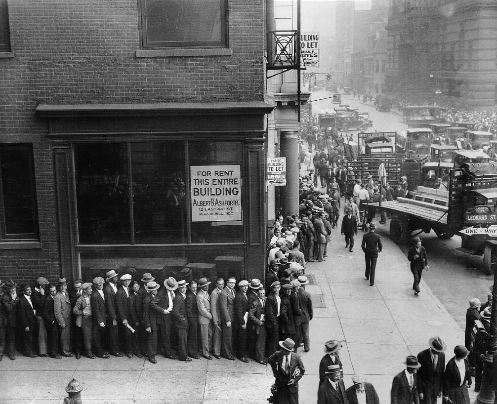 Job Line in New York City 1930