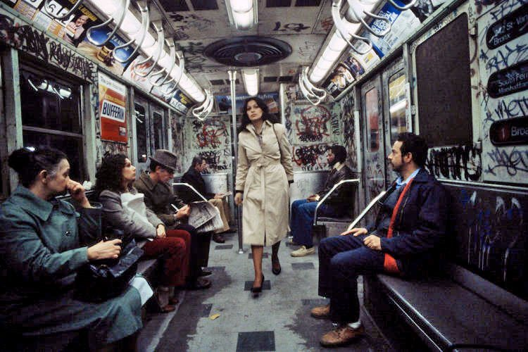 Inside a 1970s NYC Subway Car