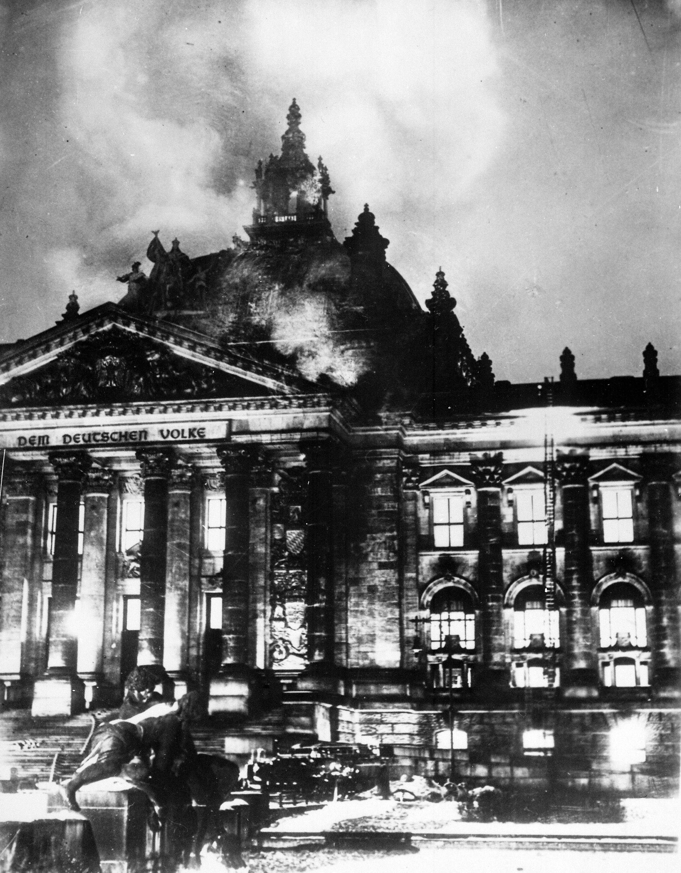 Reichstag on Fire 1933
