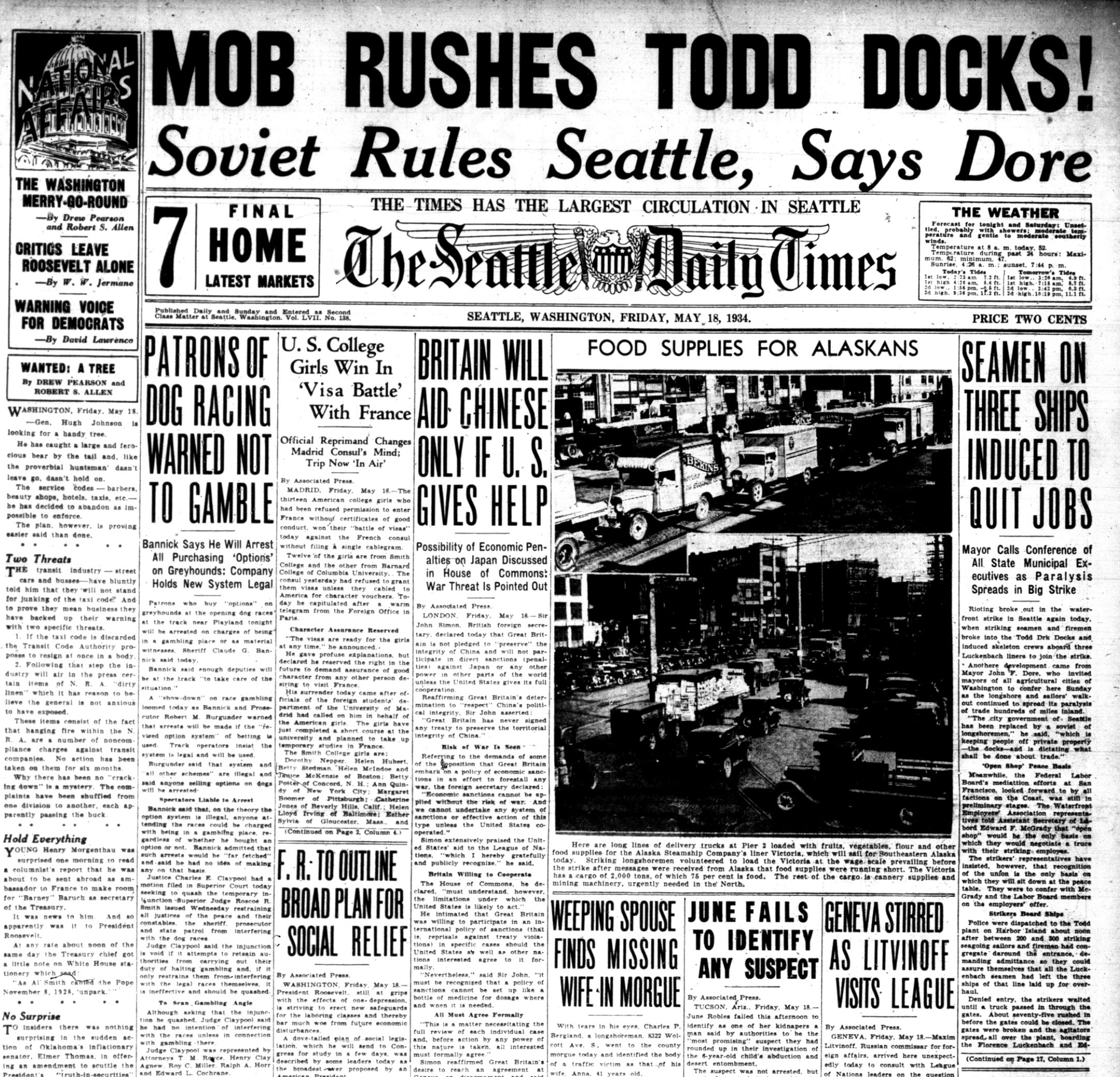 Seattle Times May 1934