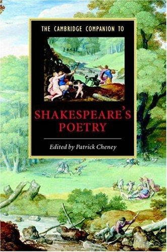 The Cambridge Companion to Shakespeare's Poetry