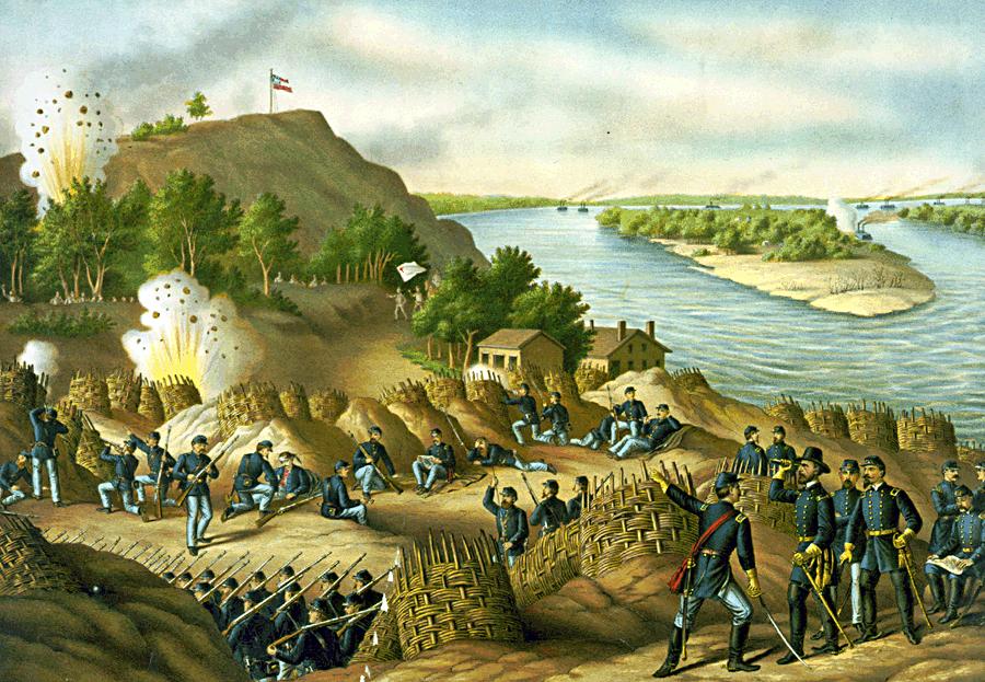 Siege of Vicksburg by Kurz and Allison