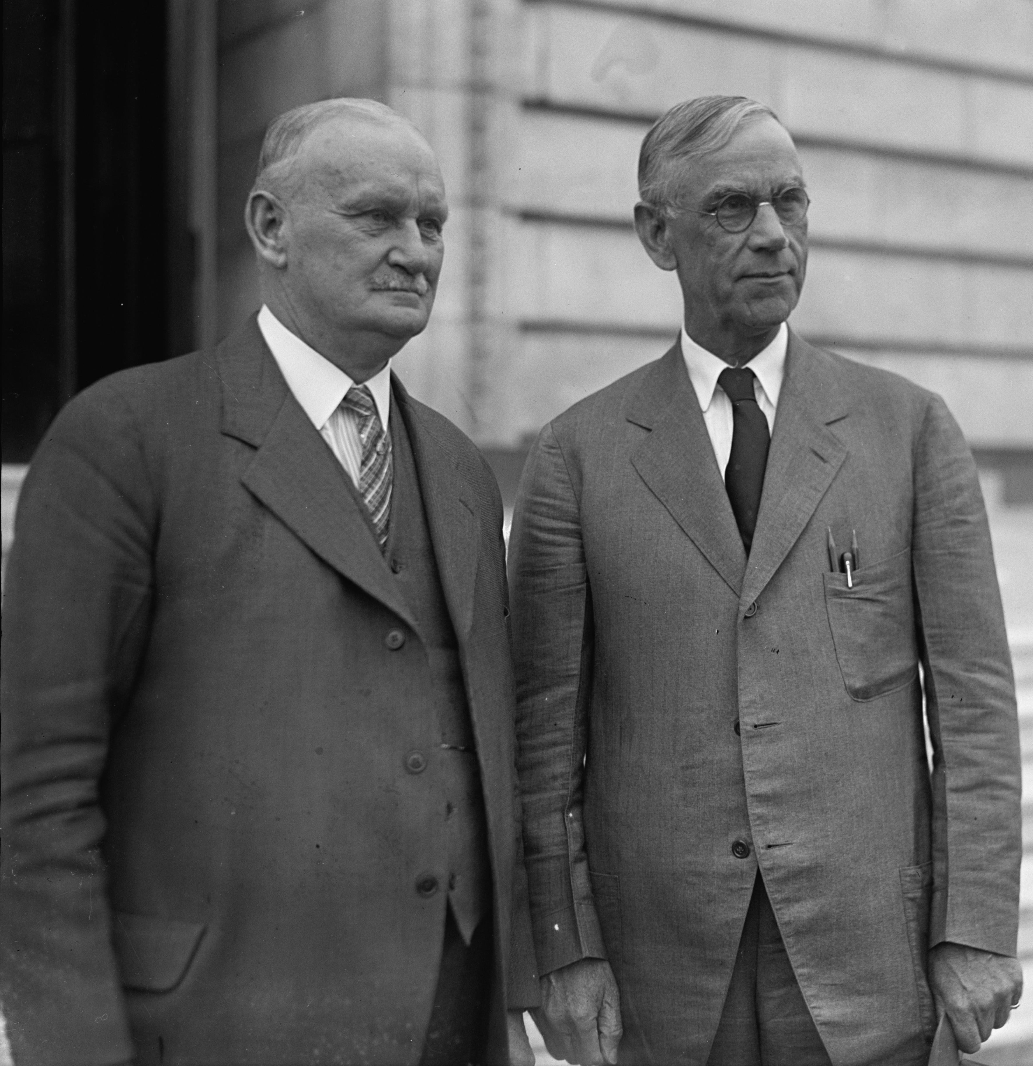 Willis C. Hawley and Reed Smoot 1929