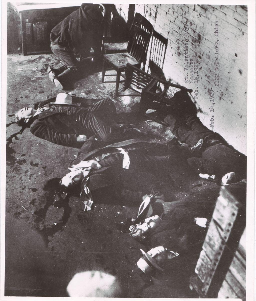 Aftermath of St. Valentine's Day Massacure 1929