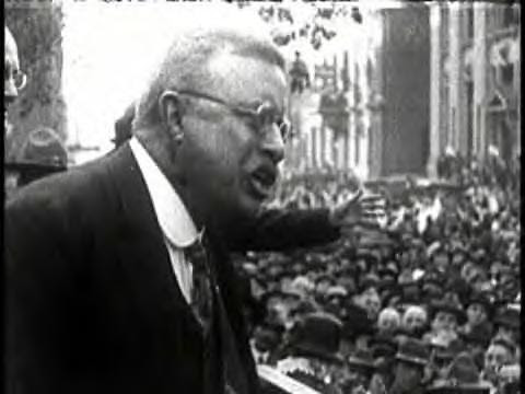 Theodore Roosevelt (NYPD Commissioner in the 1890s) Giving a Speech