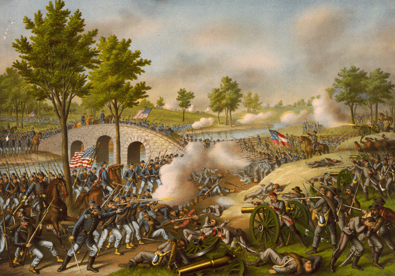 The Battle of Antietam by Kurz & Allison