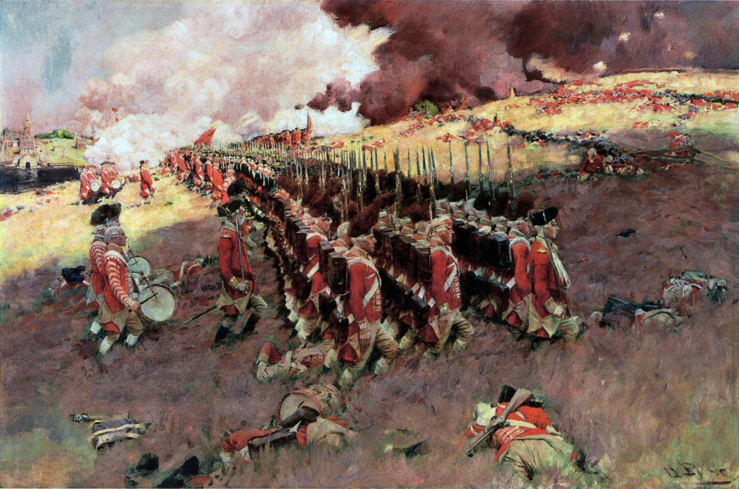 The Battle of Bunker Hill by Howard Pyle