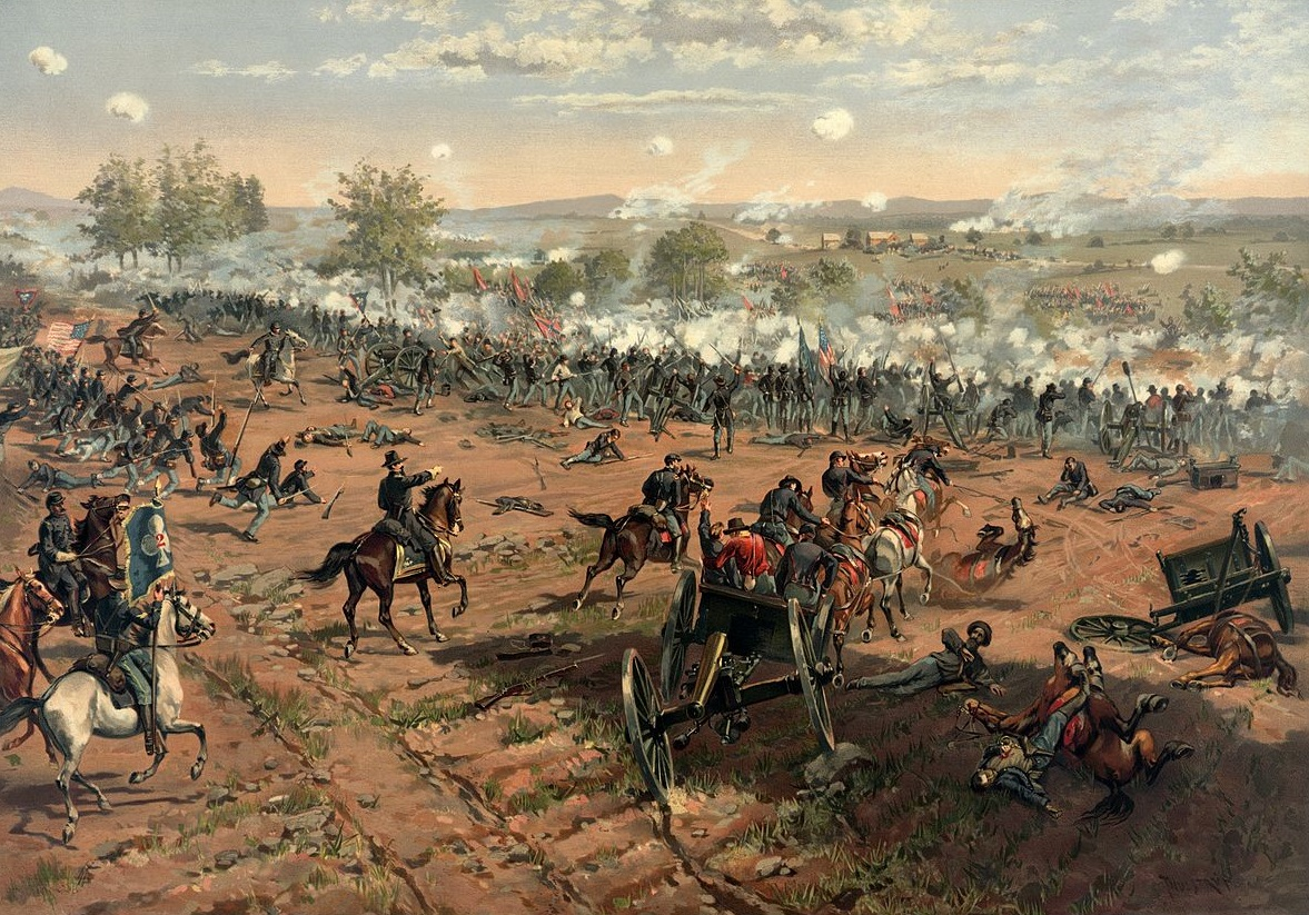 The Battle of Gettysburg by Thure de Thulstrup