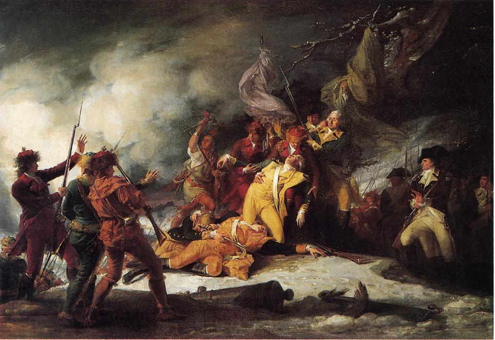 The Death of General Montgomery at Quebec by John Trumbull
