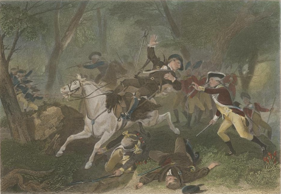 The Death of Patrick Ferguson at Kings Mountain by Alonzo Chappel