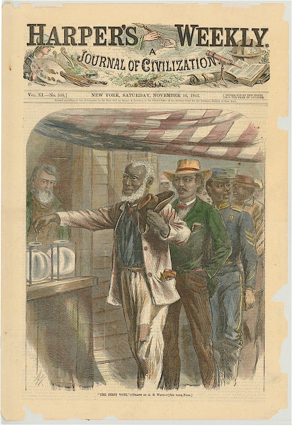The First Vote by Alfred R. Waud Harper's Weekly 1867