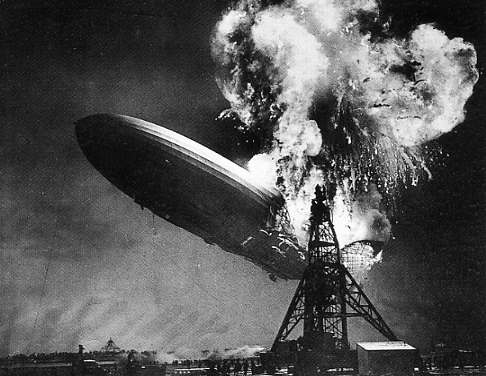 The Crash of the Hindenburg in Lakehurt NJ 1937