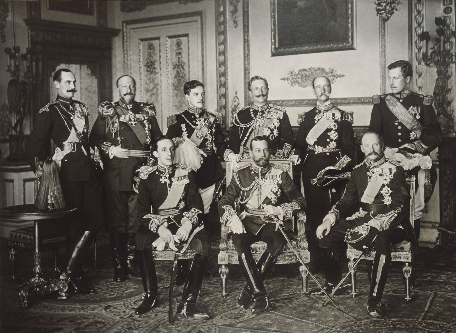 The Nine Sovereigns of Europe at the Funeral of King Edward VII of Britain in 1910.