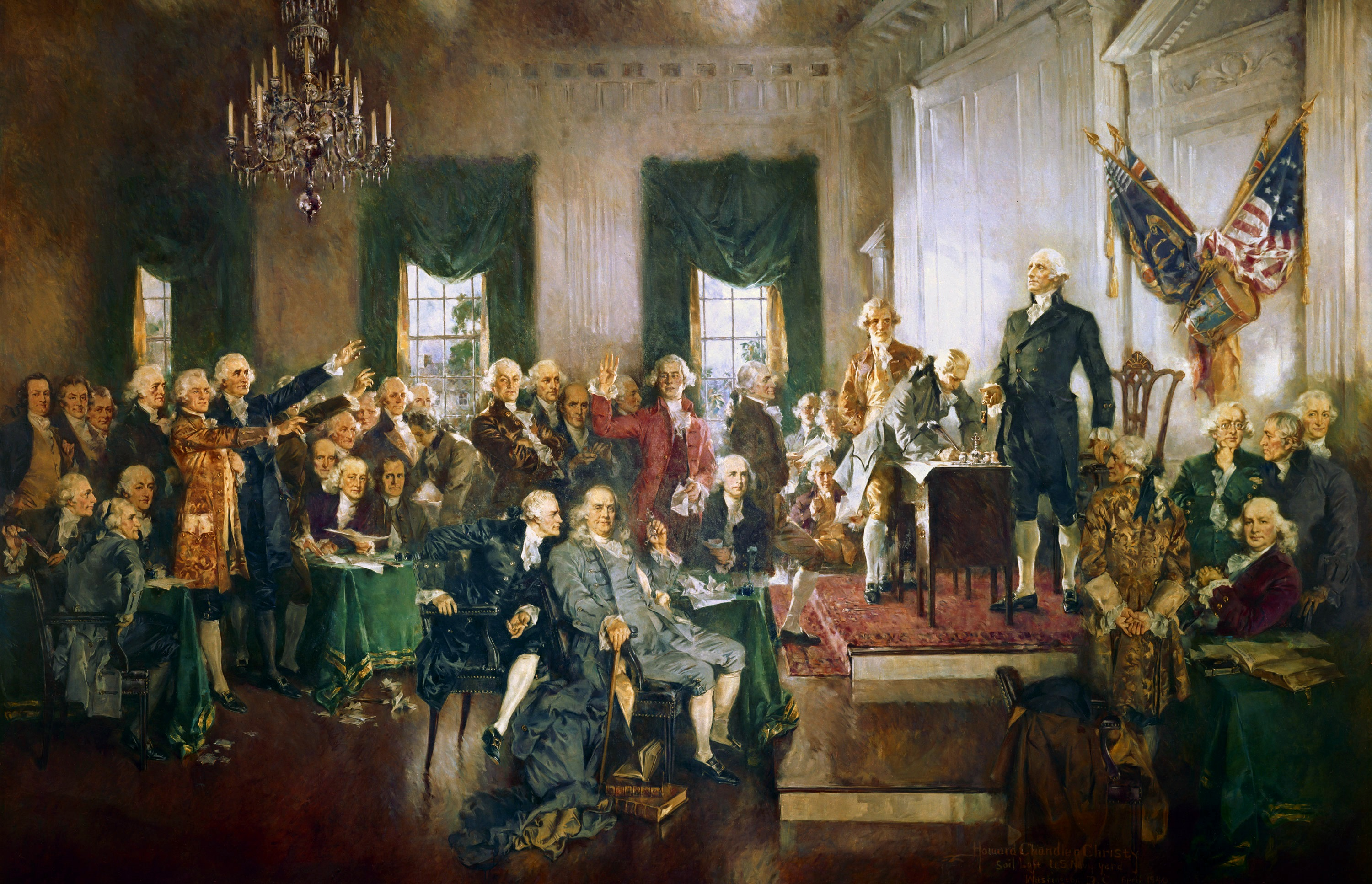 The Signing of the Constitution of the United States by Howard Chandler Christy