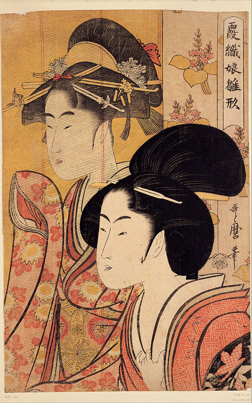 Two Beauties with Bamboo by Kitagawa Utamaro